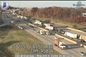 Accident Investigation Closes Northbound I-65 near I-80/94